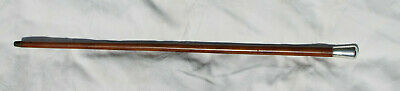 Antique Chinese Malacca & Silver Topped Walking Cane 86 Cm 34 Inch