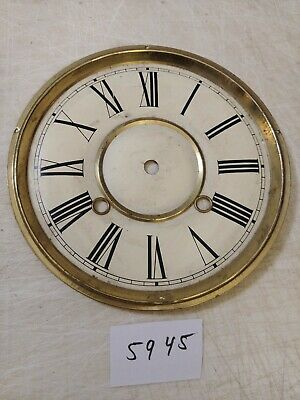 Vintage Wall Clock Metal Dial 8 3/8 Inches
