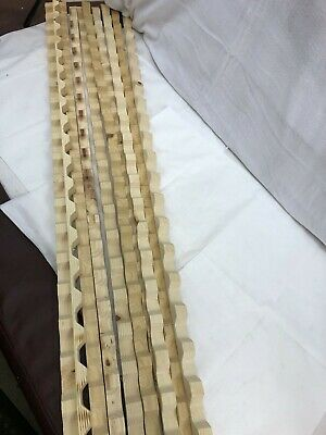 10 - Tuftex UltraVinyl & PolyCarb Square Wave Horizontal Wood Closure 8' Strips