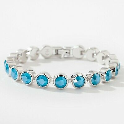 Touchstone Crystal by Swarovski SEA BLUE ICE BRACELET New In Box FREE SHIP