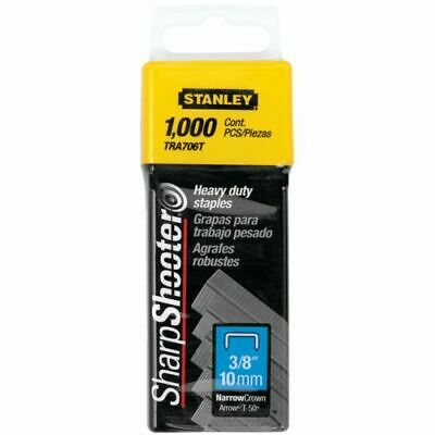 "Stanley Sharpshooter Heavy Duty TRA706T Staples 3/8"" 10mm 1000 Count Pack"