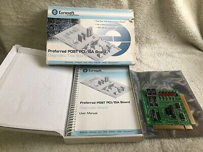 Eurosoft Preferred Post PCI/ISA Test Board with Box and Manual