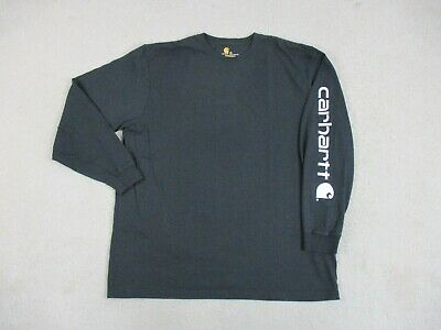 Carhartt Shirt Adult Extra Large Black Work Long Sleeve Wear Spell Out Mens