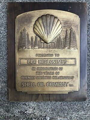 Original 1930's Shell 10 year business relationship award. RARE. Bedford Indiana