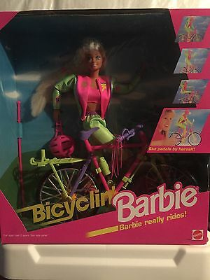 1995 Bicyclin Barbie Boxed Doll New-RARE Mattel Vintage Hard to Find