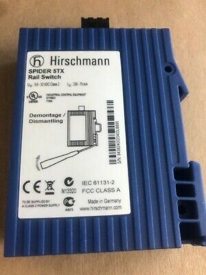 Hirschmann Spider 5Tx Rail Switch, 5 Port Ethernet