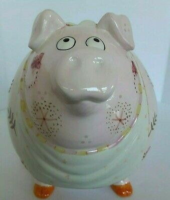 fitz and floyd bring home the bacon ceramic piggy bank very good condition