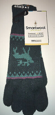 New w/tags SMARTWOOL CHUP Kaamos Glove Everglade Heather SW000429B71-1FM
