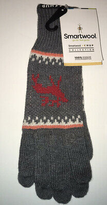New w/tags SMARTWOOL CHUP Kaamos Med. Gray Heather Gloves SW000429084-1FM