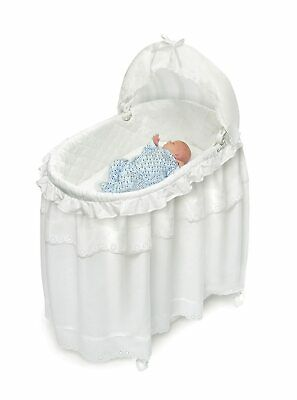 Badger Basket  White  Long Skirt Portable Bassinet Cradle with toy box933