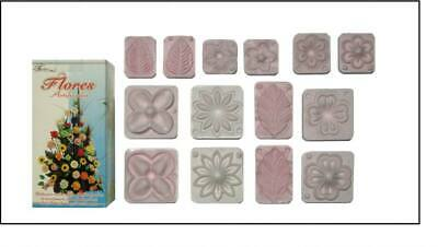 Flower Molds 3D Foamy Craft Moldes Flores Eva Foam Fomi Termoformar AZUL CHICO