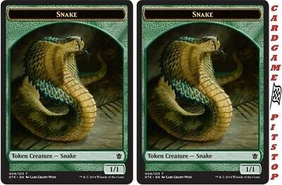 Magic the Gathering FOIL Snake Relic Token Eternal Collection MTG New
