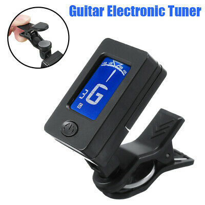 LCD Clip-On Chromatic Acoustic Electric Digital Guitar Ukulele Electronic Tuner