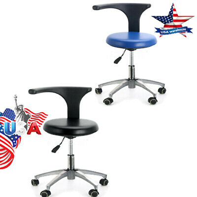 2 Models Doctor Assistant Stool 360°Rotation Adjustable Height Mobile Chair