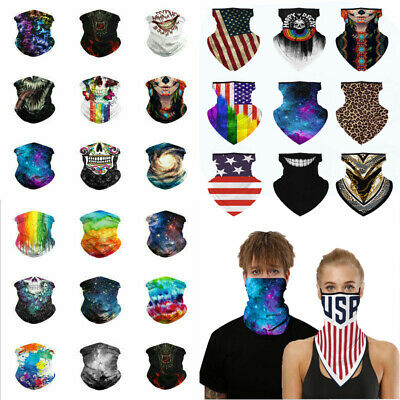 Multiuse Bandana Face Cover Neck Dust Shield Snood Scarf Hair Band Windproof