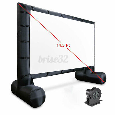 14.5 Ft Inflatable Outdoor Projector Screen Blow-Up Screen for Movies TV