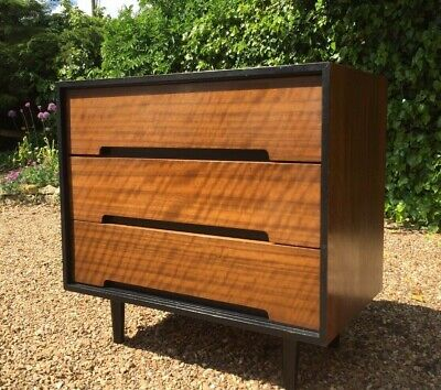 Vintage 1950'S Stag C Walnut Chest Of Drawers