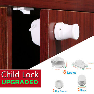 Magnetic Lock Baby Safety Cabinet Door Lock Drawer Baby Protective Kit HT