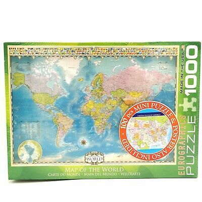 1000 Pieces World Map Jigsaw Puzzle Difficult Intellectual Gift Games Kids Z5Q9