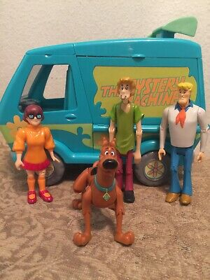 Scooby Doo Mystery Machine Van Playset w/Slime Tanks Hanna Barbera & Figures