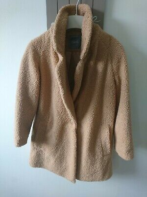Next girl borg teddy one button coat 5 years great condition