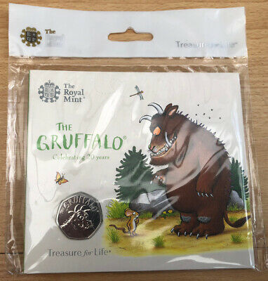 The Gruffalo 2018 50p Coin Brilliant Uncirculated Royal Mint Pack Sealed