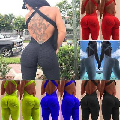 Fashion Women Sport Yoga Gym Rompers Suit Bodysuits Fitness Workout Jumpsuit HGB
