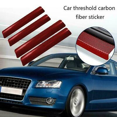 4Pcs 3D Carbon Fiber Car Threshold Protection Sticker Friction Anti Y1O0