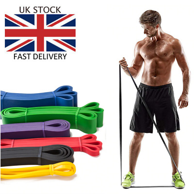 Strong Resistance Bands Loop Heavy Duty Pull Up Assist Fitness Gym Yoga Latex UK