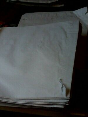 500 White Kraft Bags Strung Paper Food Bag Sandwiches Grocery Shop Retail