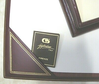 Luxurious Gigliodoro Burgundy Leather Desk Set Made in Italy Retail $900!