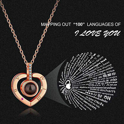 100 Languages Light Projection I Love You I Happy Mother's Day I Gift Jewelry