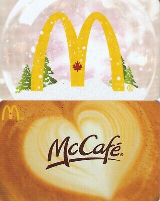McDonald's Canada Gift Cards • Set of 2 Used Cards with No Cash Value