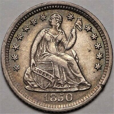 1850-O Seated Half Dime Almost Uncirculated AU H10c Coin from Old Collection