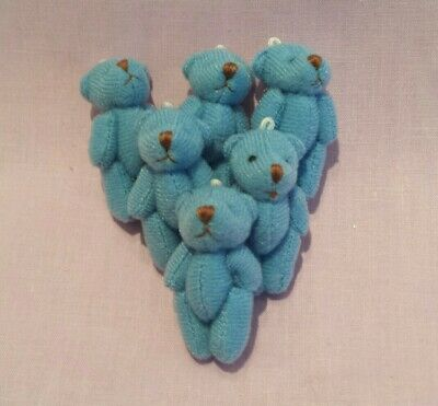 6x tiny miniature panda bears.approx 3.5-4cms.perfect for crafting.