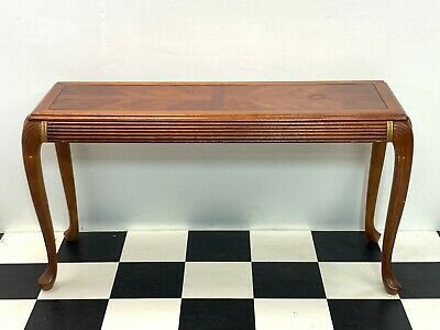 antique style walnut hall console table on cabriole legs french regency Delivery