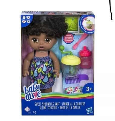 Baby Alive Sweet Spoonfuls African American Baby Girl  Doll