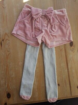 Girls Gorgeous M&S Shorts And Tights Set Age 2-3 Years