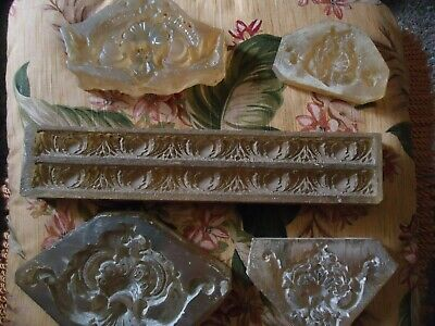 Antique Wood Molding / With Carving / Architectural