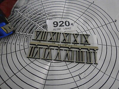 Clock DIAL ROMAN NUMERALS 19mm No.s1 - 12 Stick face mantle wall spare skeleton