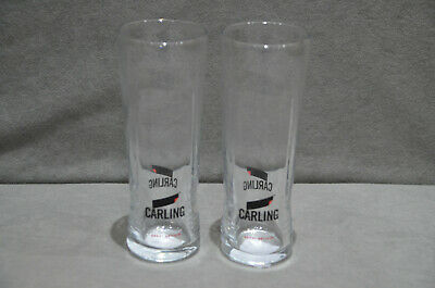 100/% Genuine CE Stamped Brand New 2 X Carling Pint 20oz Glasses Nucleated