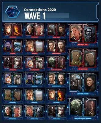 Connections 2020-Wave 1-Red+Blue 22 Card Set-Topps Star Wars Card Trader Digital