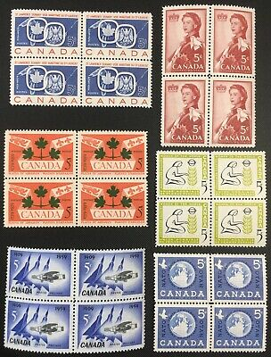 Canada Stamp - Complete Set of 1959 Issues, Block Set