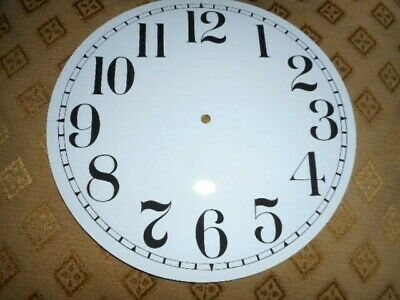 """Round Paper (Card) Clock Dial - 7 1/2"""" MINUTE TRACK- Arabic - GLOSS WHITE-Parts"""