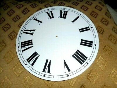"""Round Paper (Card) Clock Dial - 7 1/4"""" MINUTE TRACK - Roman -WHITE GLOSS-Parts"""