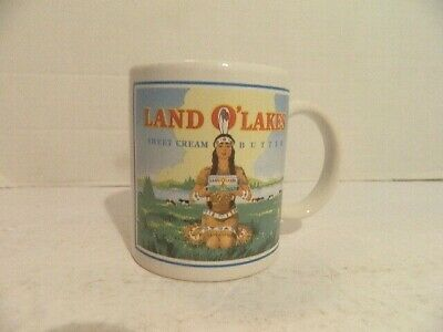 Vintage Land O Lakes Indian Maiden Sweet Cream Butter  Cup Mug