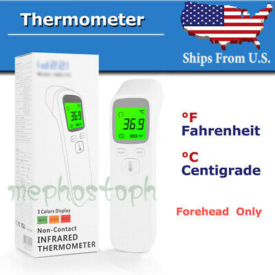F & C deg Forehead Infrared Thermometer Digital LED No-Touch Temperature US SHIP