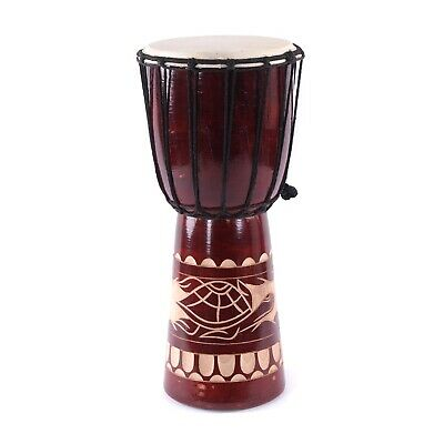 BONGO DJEMBE 40 | wood, goat skin, 40x18-20cm (HxØ) | wooden drum, carvings