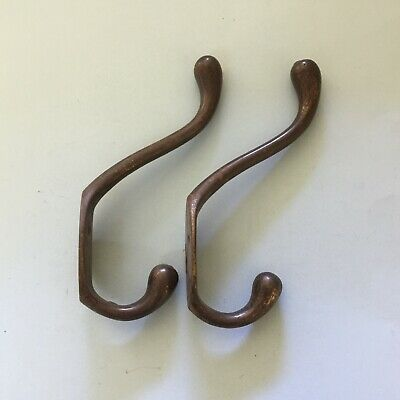 Pair of Genuine Old Vintage Coat Hooks His Hers Cast Iron Hanger for Wall Door 4