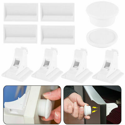 Magnetic Cabinet Locks For Child Baby Proof Safety Kitchen Cupboard Drawer Z1D7